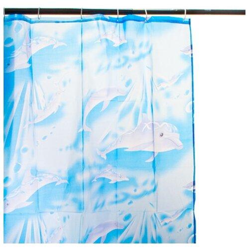 Штора для ванной Vetta 461060 170х180 голубой