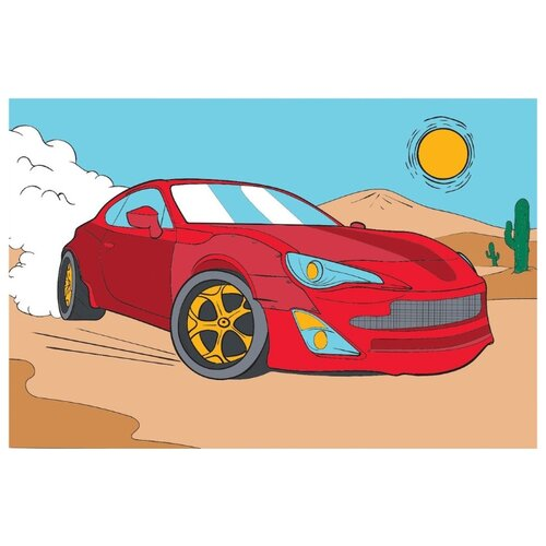 Школа талантов Картина по номерам Ралли в пустыне 20х30 см (4971854)
