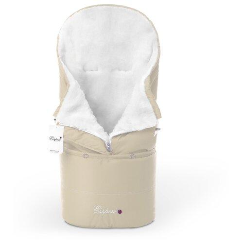 Купить Конверт в коляску Esspero Transformer White (натуральная 100% шерсть), Конверты и спальные мешки