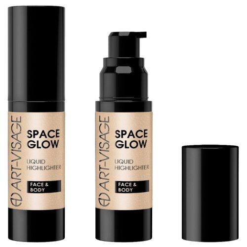 ART-VISAGE Жидкий хайлайтер Space Glow для лица и тела 23, sandy