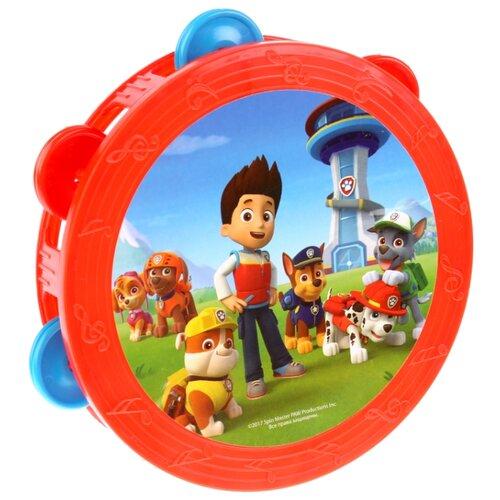 Купить Играем вместе бубен Щенячий патруль B421478-R4 красный, Детские музыкальные инструменты
