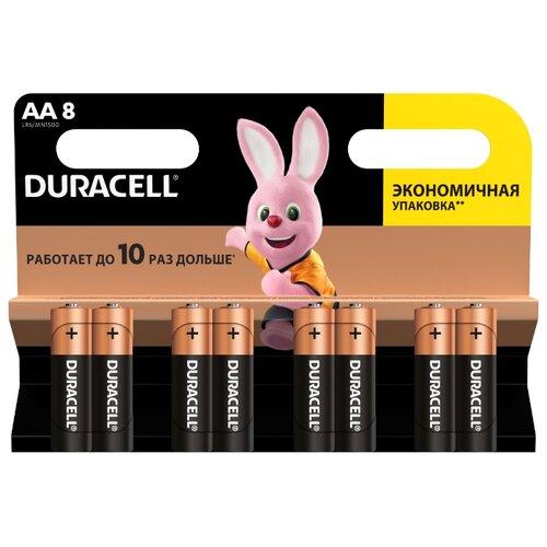 Фото - Батарейка Duracell Basic AA, 8 шт. батарейка duracell basic aa 18 шт