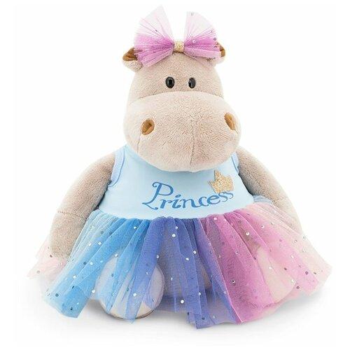 Мягкая игрушка Orange Toys Бегемот Принцесса в голубом 20 см