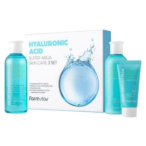 Набор Farmstay Hyaluronic acid super aqua skin care 3 set