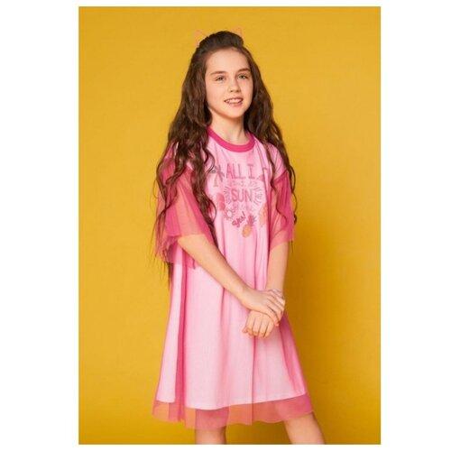 Купить Платье INFUNT размер 116, розовый, Платья и сарафаны
