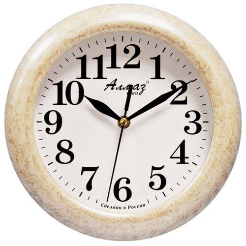 Часы настенные кварцевые Алмаз P04-P10 бежевый/белый часы настенные кварцевые алмаз m52 бежевый белый