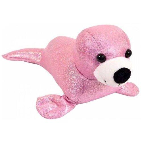 Мягкая игрушка Junfa toys Тюлень розовый 26 см