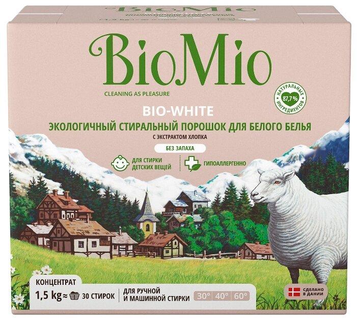 Стиральный порошок BioMio экологичный для белого белья Bio-White, 1500г