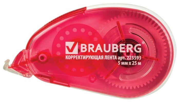 BRAUBERG Корректирующий роллер Maxi красный 5 мм х 25 м