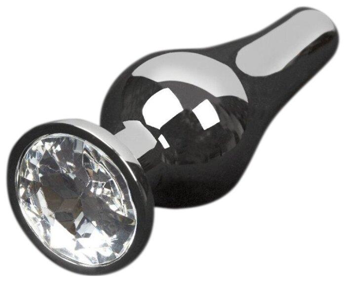 Купить Пикантные штучки Анальная пробка с кристаллом 8.5 см, графитовый/прозрачный по низкой цене с доставкой из Яндекс.Маркета (бывший Беру)