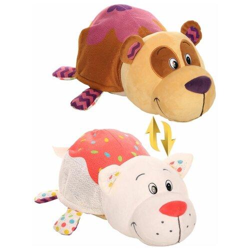 Мягкая игрушка 1 TOY Вывернушка Ням-Ням Панда-Кошечка с ароматом 40 см