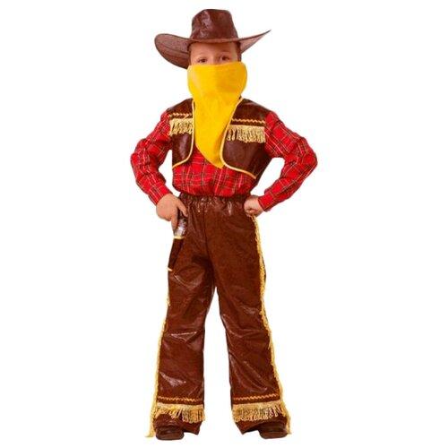 Купить Костюм Батик Ковбой (7013-1), коричневый/желтый, размер 158, Карнавальные костюмы