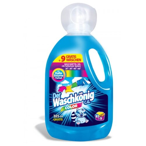 Гель Der Waschkonig Color, 3.31 л, бутылка