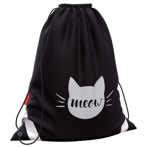Фото - ErichKrause Мешок для обуви Meow (48351) черный/белый юнландия сумка для обуви meow 229170 бирюзовый