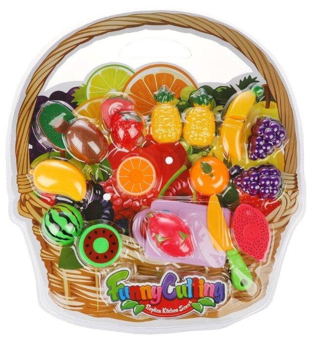 Набор продуктов с посудой Наша игрушка Фрукты NF357-L3