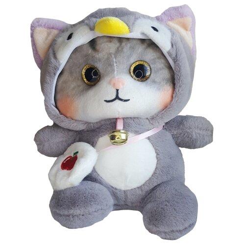Мягкая игрушка Котенок в пижаме кигуруми Сова / в капюшоне 25 см
