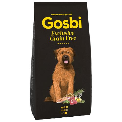 Сухой корм для собак Gosbi беззерновой, рыба, ягненок 12 кг (для крупных пород) сухой корм для собак barking heads ягненок 12 кг для крупных пород