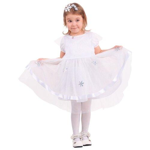 Купить Костюм Батик Снежинка (956 к-20), белый/серебристый, размер 110-56, Карнавальные костюмы