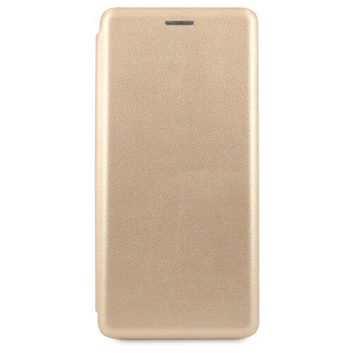 Кожаный чехол для Xiaomi Note 8 / Чехол Книжка на Сяоми Нот 8 с кармашком для карт (Золото)