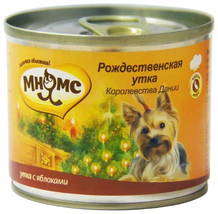 Корм для собак Мнямс утка с яблоком 200г (для мелких пород)