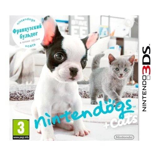Игра для Nintendo 3DS nintendogs + cats: Французский бульдог и новые друзья