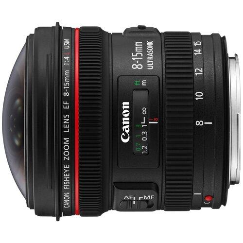 Фото - Объектив Canon EF 8-15mm f/4.0L Fisheye USM черный объектив canon ef 70 200 mm f 2 8 l usm
