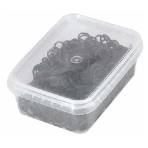 Резинки для волос Sibel, эластичные, черные 500 шт. 4432959 недорого