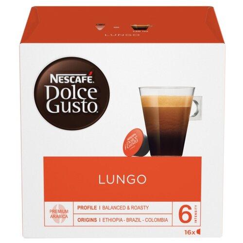 Кофе в капсулах Nescafe Dolce Gusto Lungo (16 капс.), без кофеина кофе в капсулах nescafe dolce gusto mexico americano 12 капс