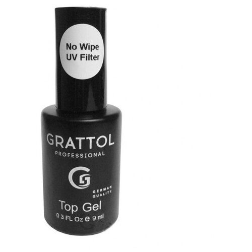 Grattol верхнее покрытие No Wipe Top Gel UV Filter 9 мл прозрачный