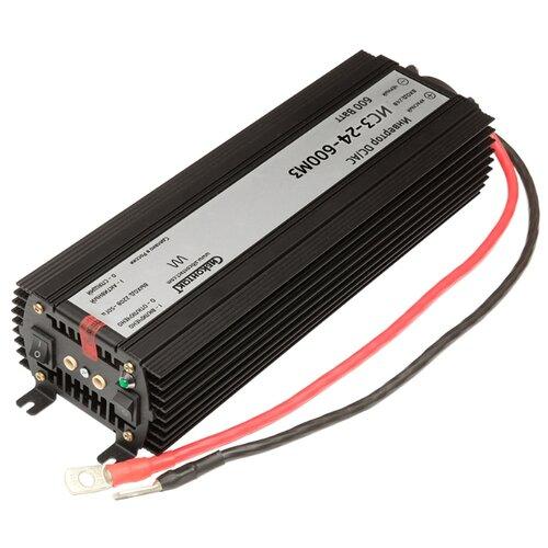 Инвертор СибКонтакт ИС3-24-600М3 DC-AC черный