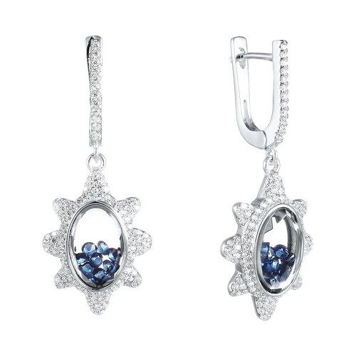 цена на JV Серьги с стеклом и фианитами из серебра A088-SR-CRYST-002-WG