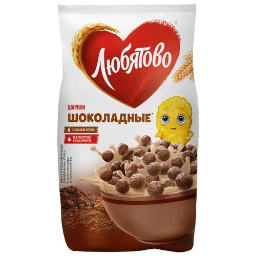 Готовый завтрак Любятово Шарики шоколадные, пакет, 200 г