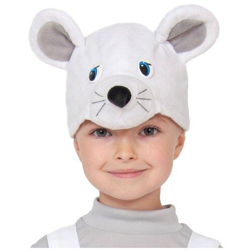 Маска КарнавалOFF Мышка белая/Мышонок (4138), белый, размер 52-54