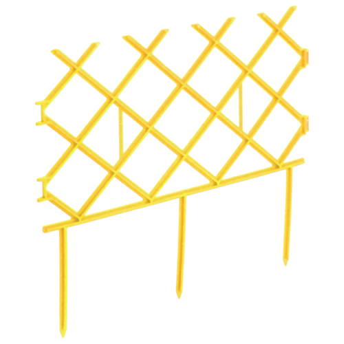 Забор декоративный Комплект-Агро Палисад, желтый, 3 х 0.19 м