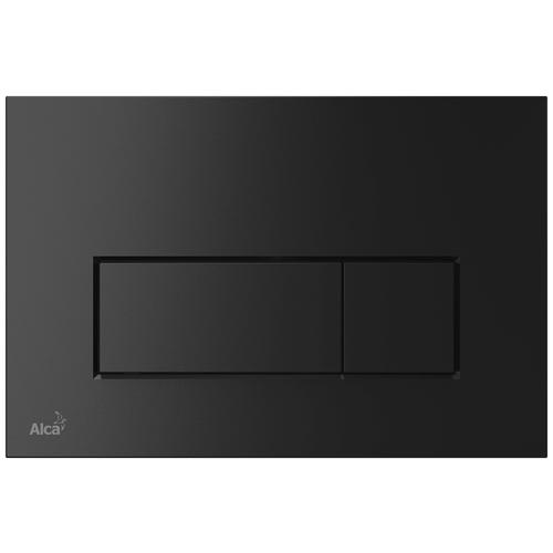Кнопка смыва AlcaPLAST Thin M57X черный матовый кнопка смыва alcaplast m1732 xром мат