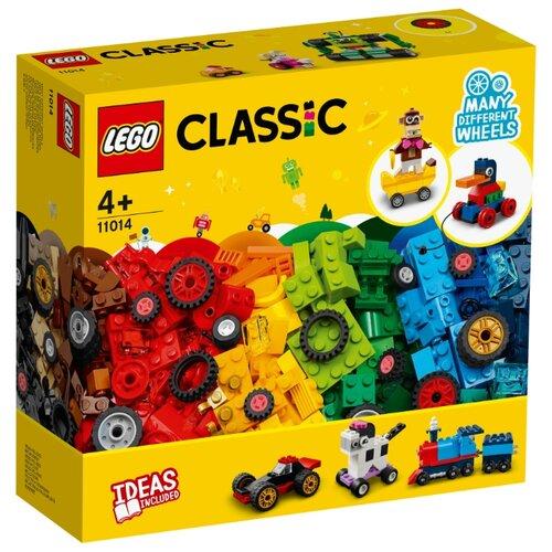 Купить Конструктор LEGO Classic 11014 Кубики и колёса, Конструкторы
