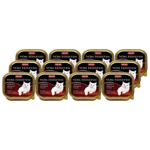 Влажный корм для кошек Animonda Vom Feinsten, беззерновой, мясное ассорти 32шт. х 100 г (паштет)