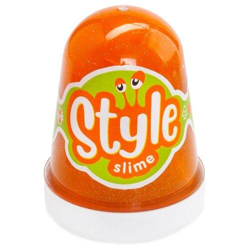 Купить Лизун LORI Style Slime блестящий с ароматом апельсина оранжевый, Игрушки-антистресс