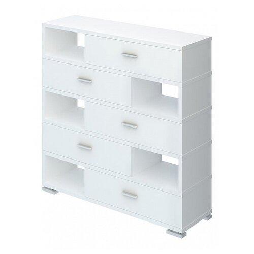 Комод Мэрдэс Домино СБ-40-5 , размер: 120х36 см , цвет: белый