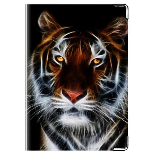 Обложка для паспорта MADAPRINT Тигр 100% натуральная овечья кожа