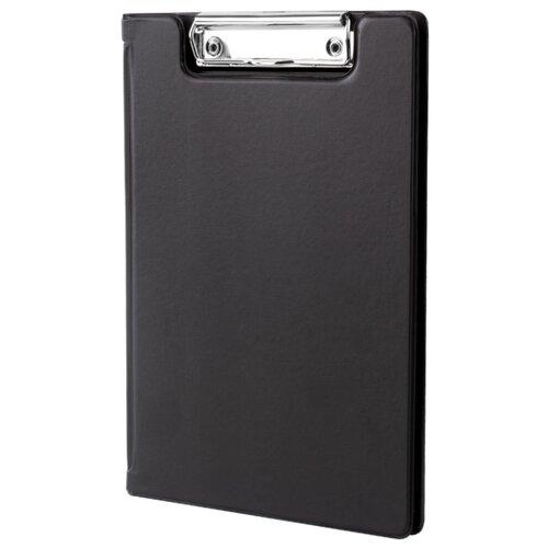 Купить BRAUBERG Папка-планшет А5, с прижимом и крышкой черный, Файлы и папки