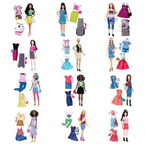 Купить Кукла Barbie Игра с модой с набором одежды, 29 см, DTD96, Куклы и пупсы