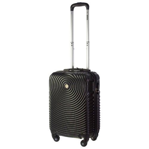 Чемодан PROFFI Tour Space S 36 л, черный чемодан proffi business lady m 63 л розовый