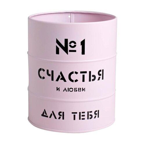 Фото - Коробка подарочная Дарите счастье Счастья и любви 12 х 14 х 12 см розовый бумага упаковочная дарите счастье момент счастья 0 68 × 10 м сиреневый