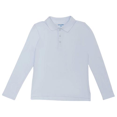 Купить Поло Button Blue размер 134, белый, Футболки и майки