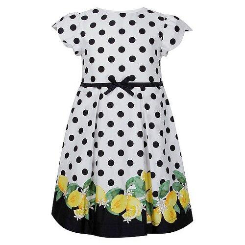 Купить Платье Mayoral размер 134, горошек/белый/синий/желтый, Платья и сарафаны