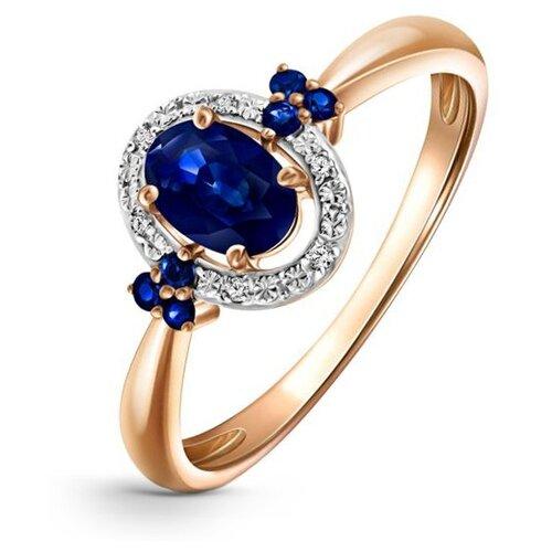Бронницкий Ювелир Кольцо из красного золота R01-D-1983105AS-R17, размер 17 бронницкий ювелир кольцо из красного золота r01 d 1983089ab r17 размер 17
