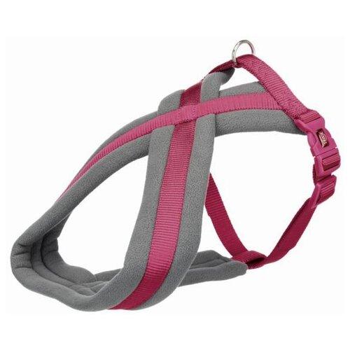 Фото - Шлейка для собак Premium Touring, S: 35–50 см/20 мм (темно-розовый) шлейка для собак trixie premium touring размер s m 40–60 см 20 мм бежевый