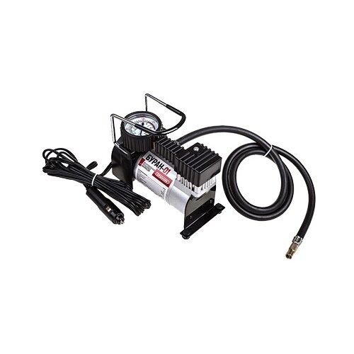 Автомобильный компрессор skyway Буран-01 серебристый/черный.