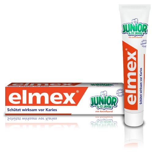 Купить Зубная паста Elmex Юниор для детей от 6 до 12 лет, 75 мл, Гигиена полости рта